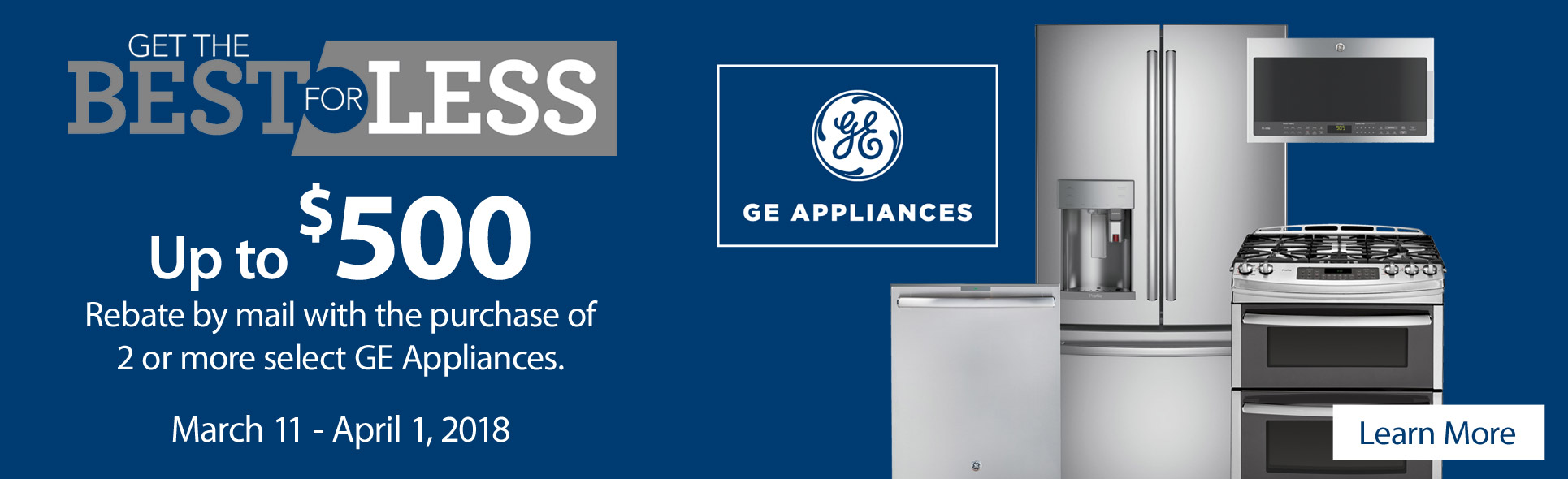 GE Best For Less- Save up to $500